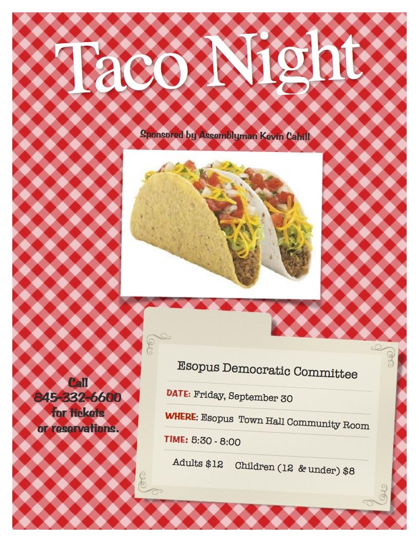 Esopus NY Democratic Committee Taco Night